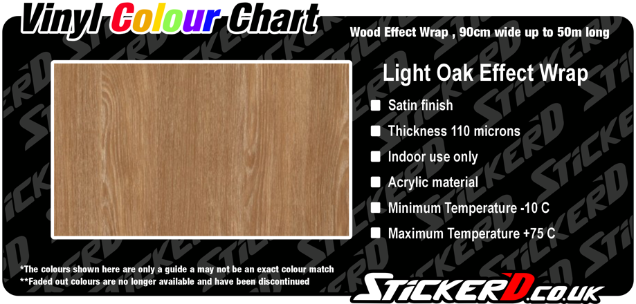 Light Oak Effect Wrap, Satin Finish, 90cm Wide