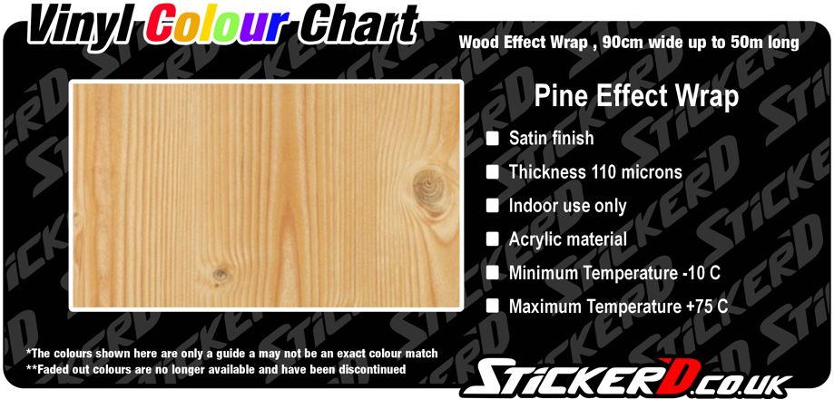 Pine Effect Wrap, Satin Finish, 90cm Wide
