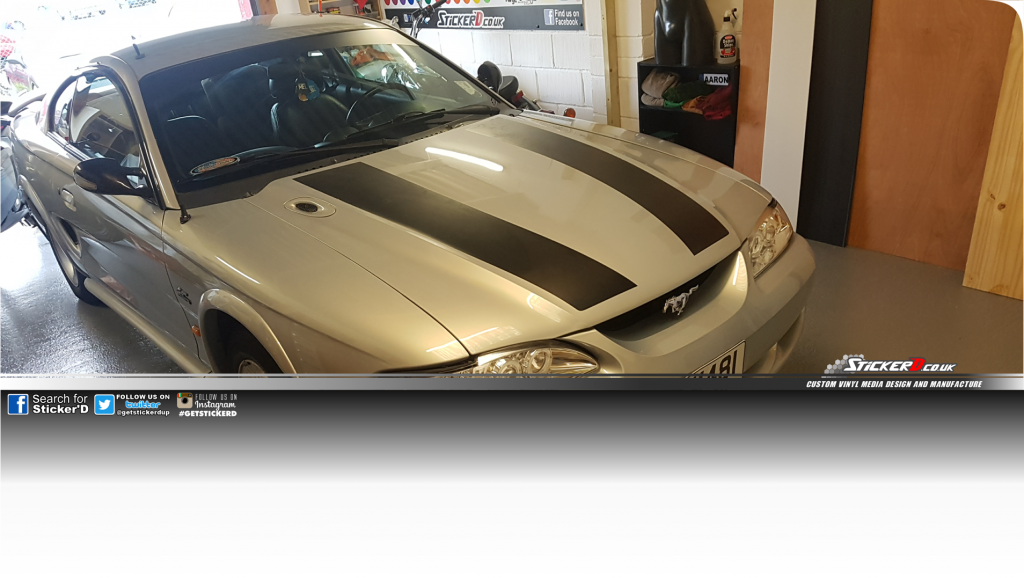 For Mustang American Muscle sunstrip