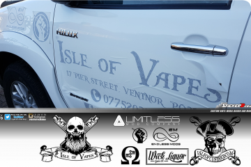 Isle of Vapes Toyota Pickup 4x4 vehicle graphics