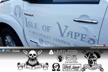 Isle of Vapes Toyota Pickup 4x4 vehicle graphics